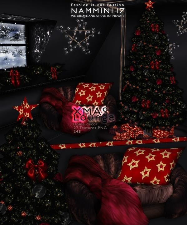 Xmas Lounge imvu Home decor 27 Textures PNG