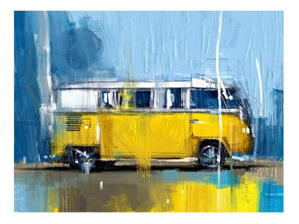 Classic Yellow Camper