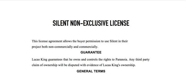 Horror Music - Silent License