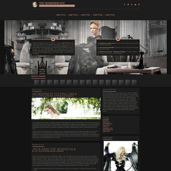 Dark Premium Wordpress Theme