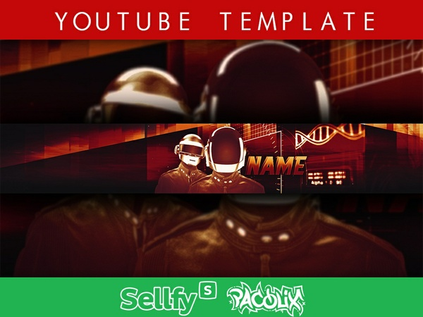 YouTube Banner Template [Pacolix]