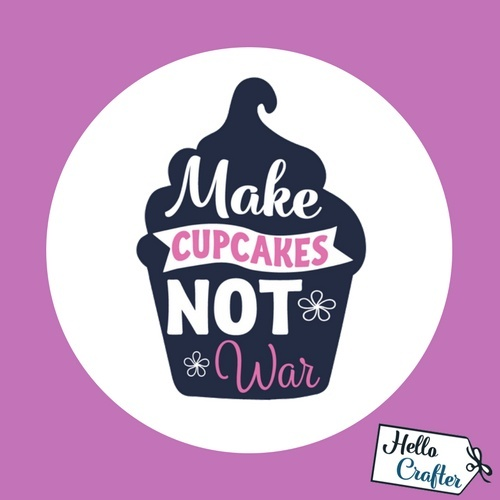 Make Cupcakes Not War Commercial License