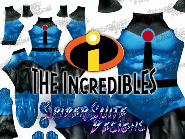 Mr. Incredible Blue Suit 2017 Pattern