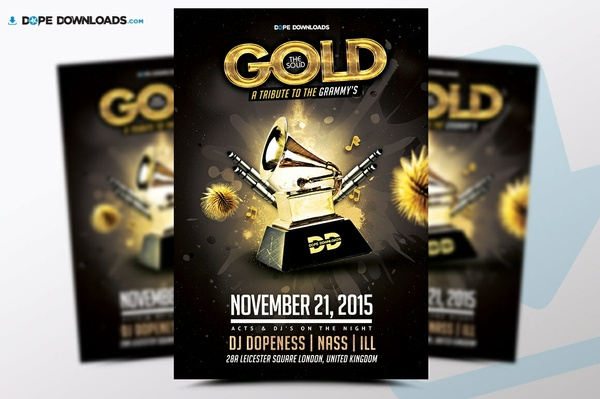 The Solid Gold Awards Flyer Template