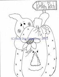 #9 Pumpkin Patch All line/stitcherys drawing ePattern