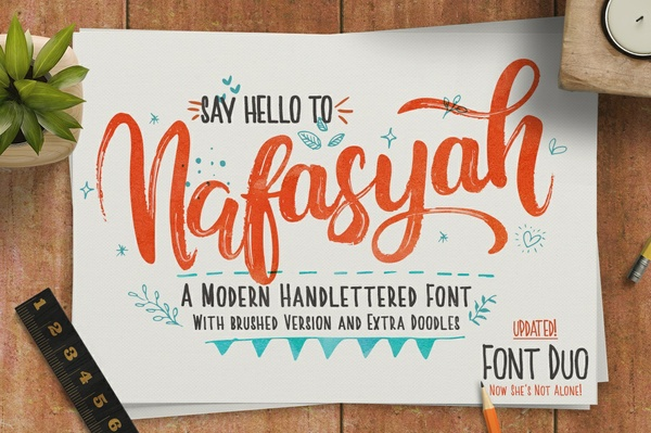 Nafasyah - Handbrushed Font Duo