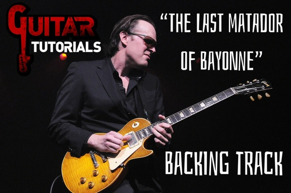 Joe Bonamassa - The Last Matador Of Bayonne - Guitar Backing Track (Solo Part)
