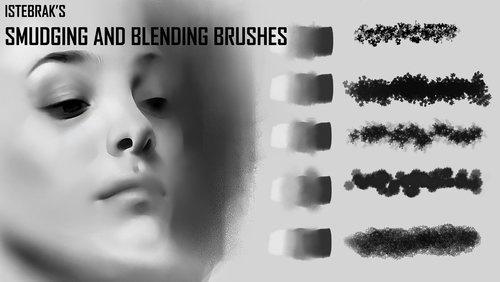 Smudging Brushes by Istebrak