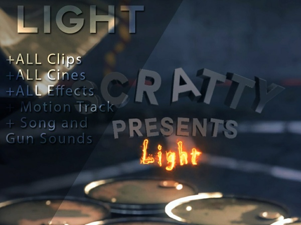 """Light"" (by Scratty) Project File w/Clips and Cines + Resources"