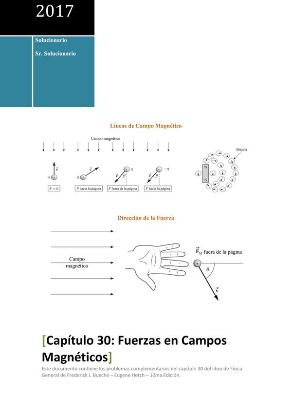 Solucionario de Física General de Schaum - Capítulo 30 - Fuerzas en Campos Magnéticos
