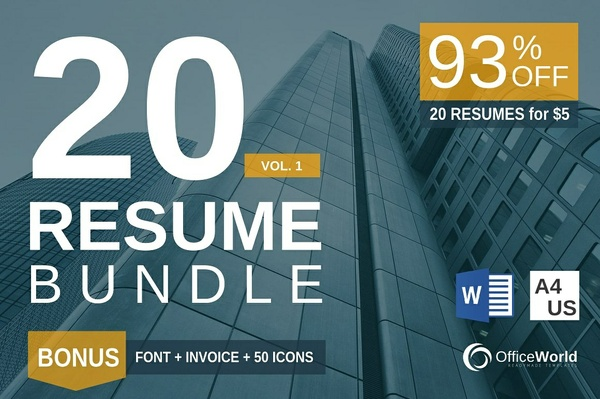 20 Resume Bundle Vol 1