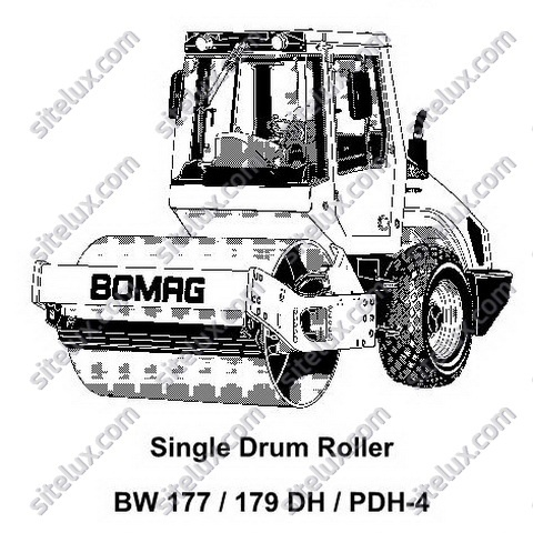 Bomag BW 177/179 DH/PDH-4 Single Drum Roller Service Training
