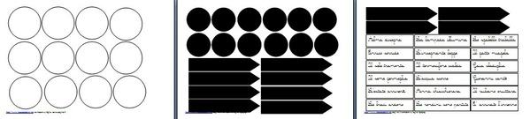 materiale stampabile per la caccia al verbo bianco e nero