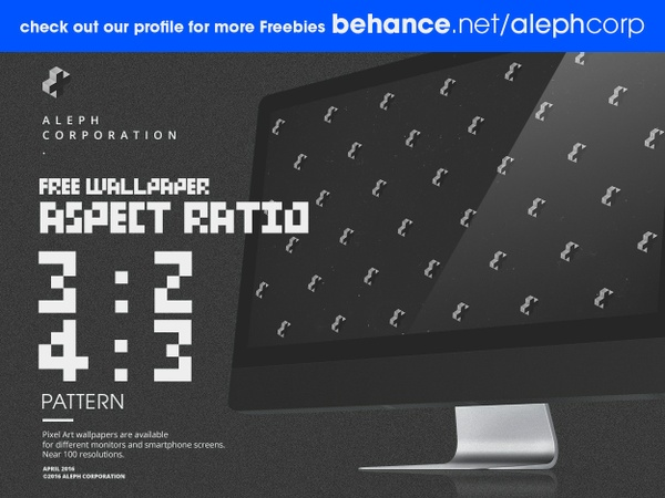 Free 3:2 & 4:3 Aspect Ratio Wallpapers - Pixel Art by aleph corporation