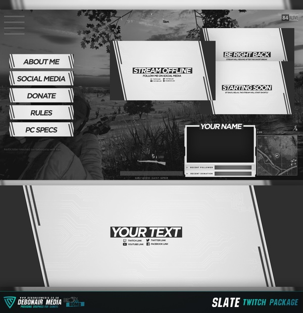 Slate - Twitch Streamer Package