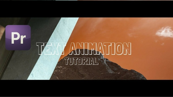 Music Video Text Animation | Smooth Square Text