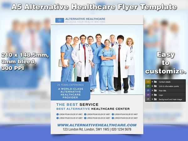 Alternative Healthcare Flyer Template (A5, PSD)