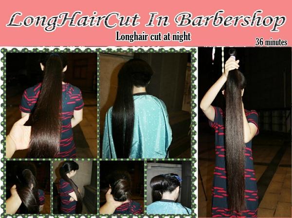 Longhair cut at night