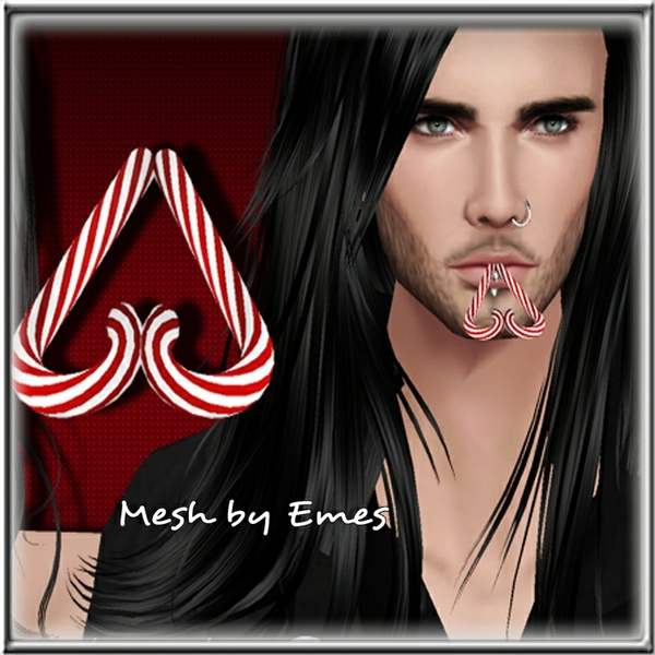 Mesh-Heart Candy Cane Male