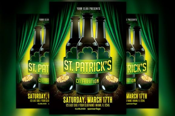 St. Patrick's Celebration 1 Flyer Template