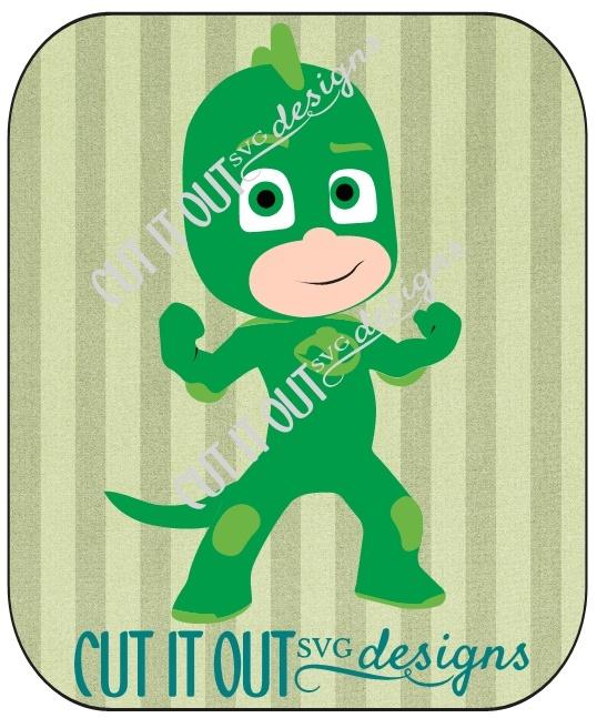 PJ Masks Character Gekko (Greg) SVG