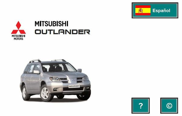 MITSUBISHI OUTLANDER 2005 SPANISH
