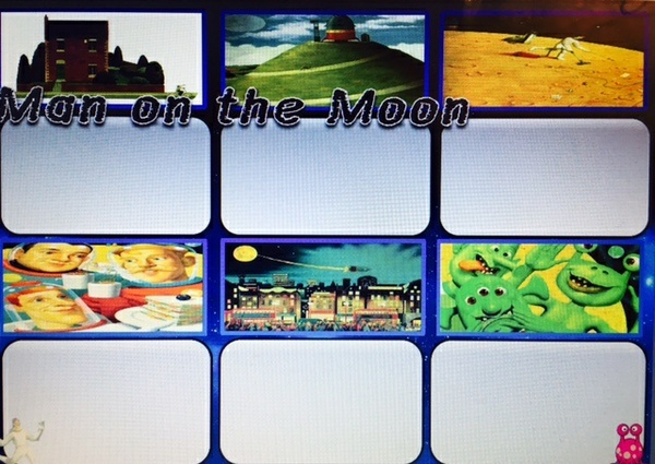 THE MAN ON THE MOON  ACTIVITY SHEETS x 3