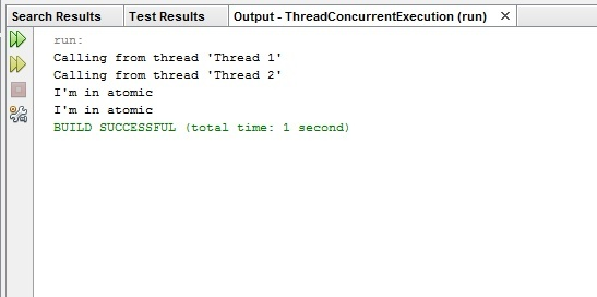Concurrent and non-concurrent threads in Java | Two different project in NetBeans