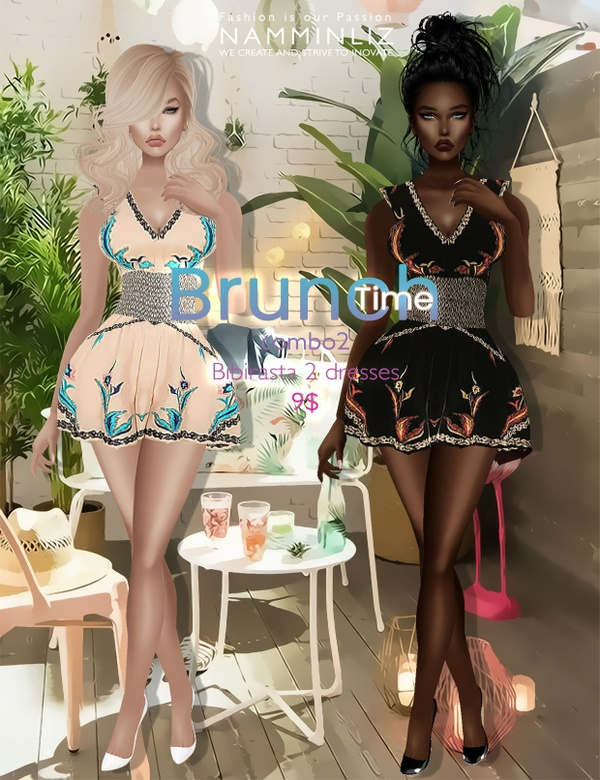 Brunch time combo2 ( imvu Bibirasta 2 dresses ) all sizes