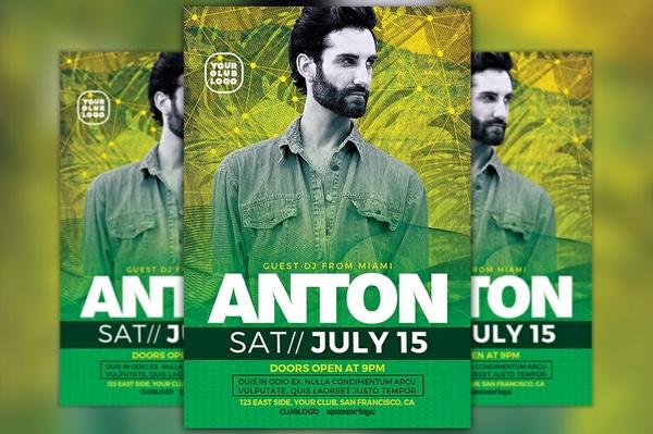 DJ Anton Party Flyer Template
