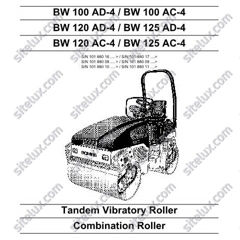 Bomag Tandem Vibratory Roller / Combination Roller Service Manual