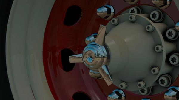 Spinner addon for abasstreppas wheelpack (Euro Truck Simulator)