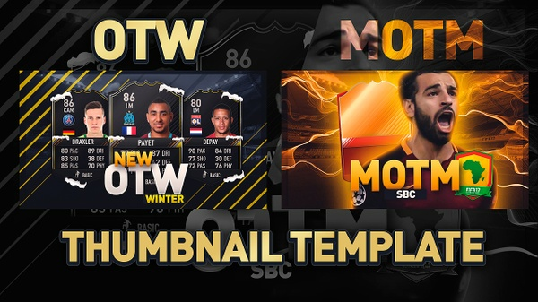 FIFA 17 THUMBNAIL TEMPLATE PACK | NEW OTW AND MOTM