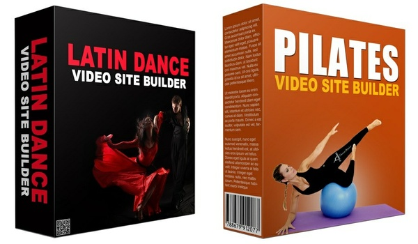 2 Video Site Builders:  Latin Dance Video Site Builder Software and  Pilates Video Site Builder