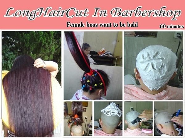 Female boss wants to be bald