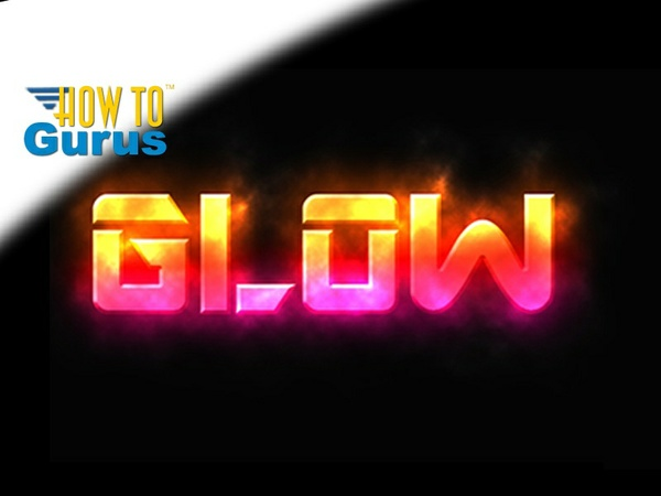 Photoshop Glowing Text Effect, how to create Glow Style text, CS5 CS6 CC