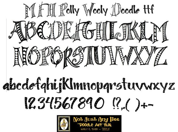 MFH Polly Wooly Doodle True Type Font