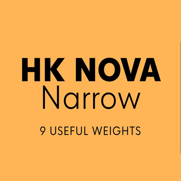 HK Nova™ Narrow Typeface Family