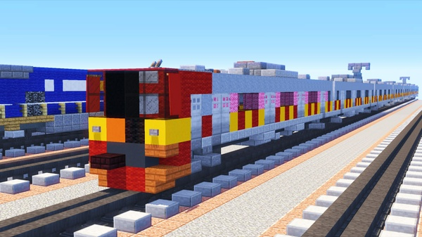 Commission a Minecraft Train Model