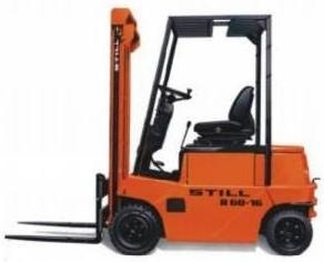 Still Electric Forklift Truck R60-16, R60-18: 6010, 6021 Spare Parts List, Manual