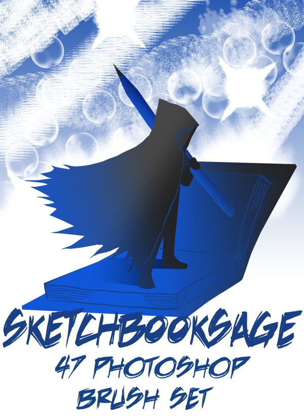 Sketchbooksage 47 Photoshop Brush Set
