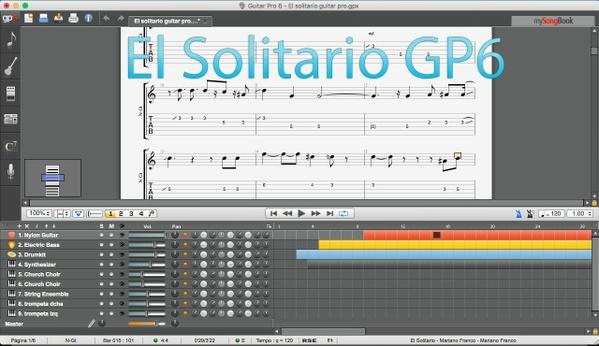 """El Solitario """" TAB"""" Guitar Pro 6"""