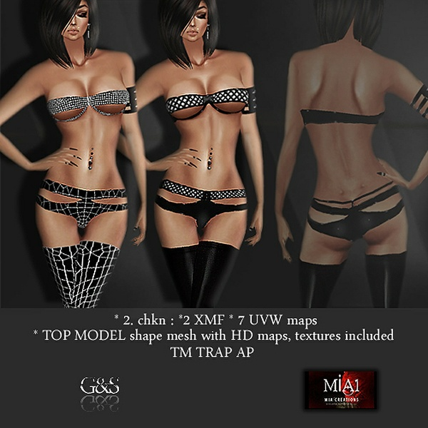 TOP MODEL Trap AP IMVU MESHES & TEXTURE