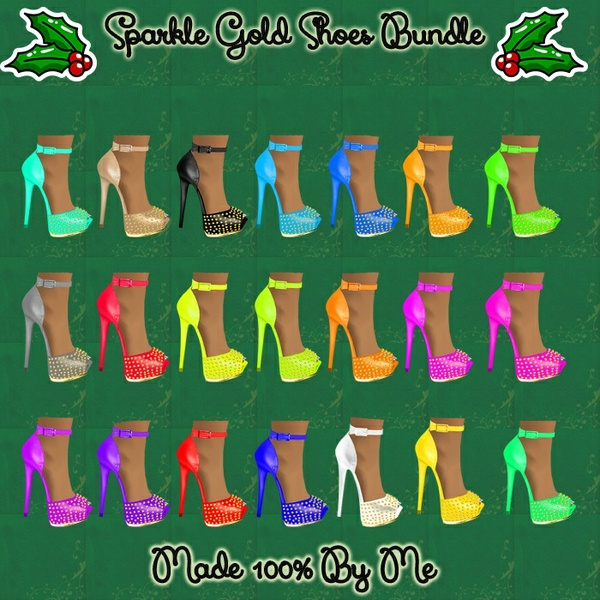 Sparkle Gold Shoes Bundle Catty Only!!!