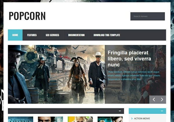 PopCorn Blogger Template Premium Version