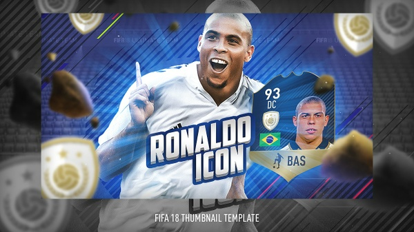 FIFA 18 THUMBNAIL TEMPLATE  | FIFA 18 ICON