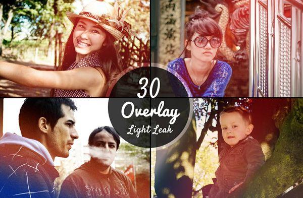 30 Light Leak Overlays