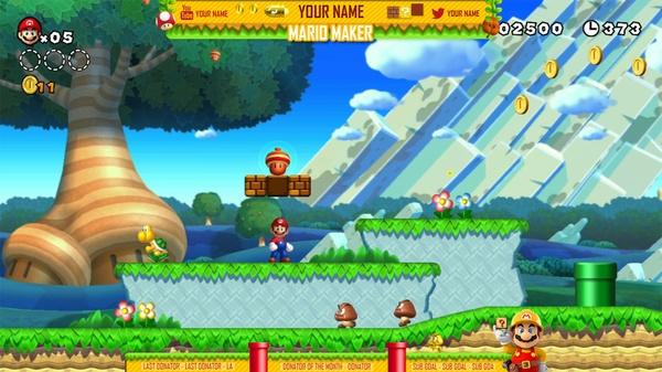 Super Mario Maker Twitch stream overlay