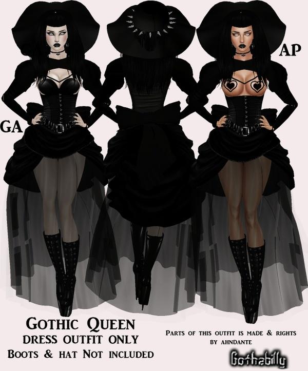 Exclusive   - GOTHIC QUEEN DRESS