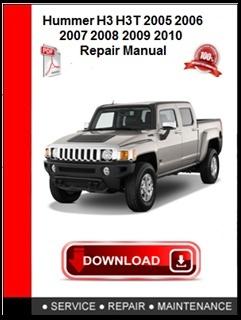 Hummer H3 H3T 2005 2006 2007 2008 2009 2010 Repair Manual